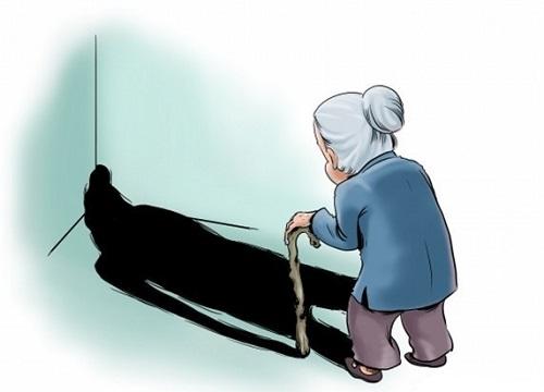 老人看书简笔画图片