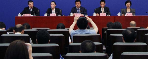 """《""""健康北京2030""""规划纲要》新闻发布会。"""